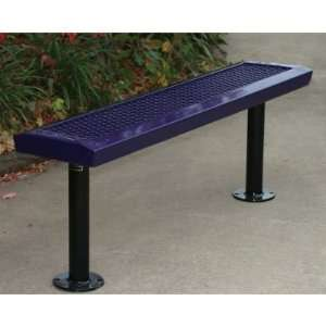WebCoat Backless Commercial Grade Park Bench Patio, Lawn & Garden