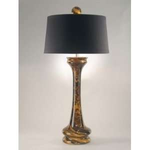 Dale Tiffany Wales Amber Table Lamp with Champagne Silver