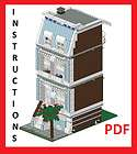 Lego Custom Modular Building Blue House INSTRUCTIONS ONLY