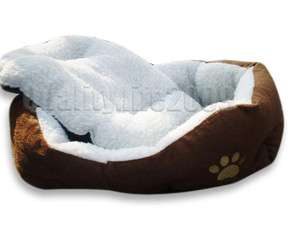 Medium Coffee Cozy Soft Warm Fleece Pet Bed Puppy Dog beds Cat Mat