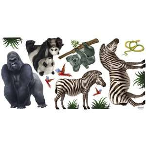 Jungle Animals Kids Mural II   Peel & Stick Large Decals