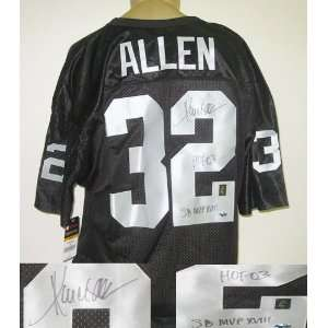 Marcus Allen Oakland Raiders NFL Hand Signed Authentic Style Black