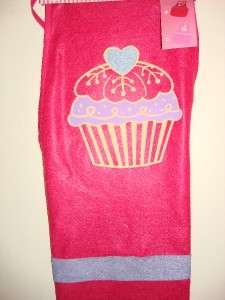 Valentine Romance Love Cute pink Apron blue heart design New