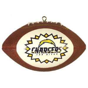 San Diego CHARGERS NFL Football Shaped Christmas ORNAMENT New