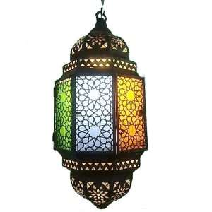 Octagonal Moroccan Antique Style Lighting Glass Lamp