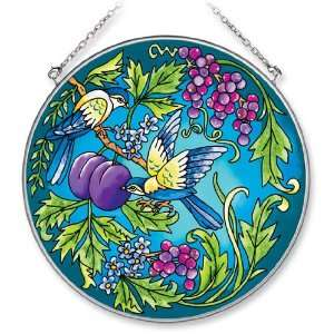 Amia Large Circle Birds with Grapes Suncatcher Patio