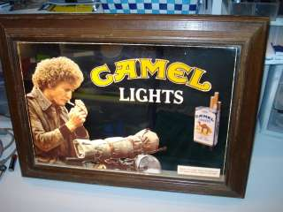 VINTAGE CAMEL LIGHT BAR /GAME ROOM MIRROR LIGHT SIGN