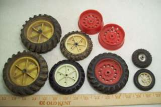 Vintage Toy Truck TIRES & WHEELS for PARTS/RESTORE Structo & Unknown