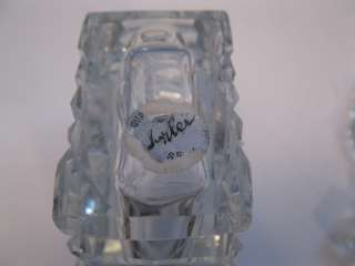 Sparkling Czech Czechoslovakian Crystal Glass Art Deco Perfume Bottle