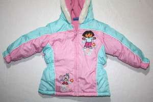 GIRLS WINTER COAT  DORA EXPLORER  SIZE 3T