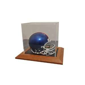 Kansas City Chiefs Mini Helmet Display Case with Natural Color Framed