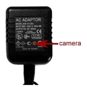 AC Adapter Covert Camera w/DVR and Motion Detection