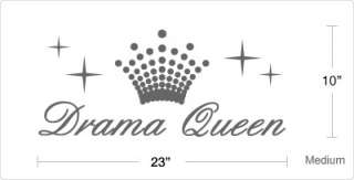 drama queen vinyl wall quote decal sticker dimensions