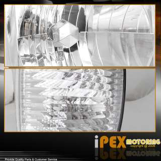 92 07 Ford Econoline Chrome Clear Head Lights w/Clear Corner Turn