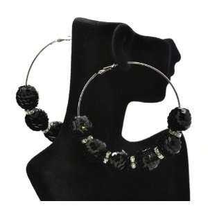 Earrings with Disco balls and Iced Out Mini Loops Lady Gaga Paparazzi
