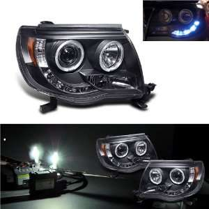 4300k Xenon Hid+05 11 Toyota Tacoma Halo LED Projector Headlights Lamp