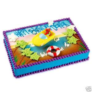 ELMO BEACH Sesame Street Cake Decoration Topper KIT SET