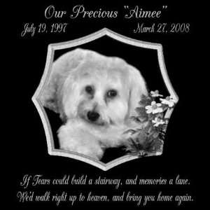 Gifts Personalized If Tears Could Build A Stairway Black Granite Pet