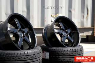 20 wheels rims AVANT GARDE M350 MATTE BLACK Staggered Wheels Rims