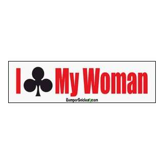 Clubbed My Woman   funny bumper stickers (Medium 10x2.8 in