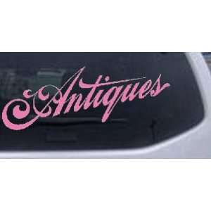 Antiques 3 Swirl Business Car Window Wall Laptop Decal Sticker    Pink