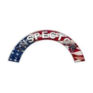 Inspector American Flag Firefighter Fire Helmet Arcs / Rocker Decals