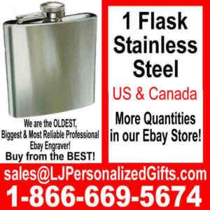 FLASK Personalized Groomsmen Bridesmaid Wedding Gift A1