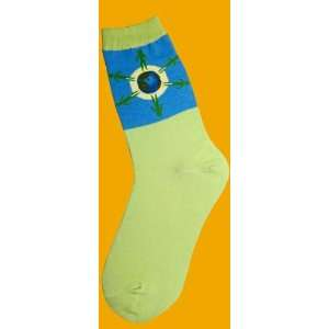 Foot Traffic Womens Novelty Socks Save The Plant Green