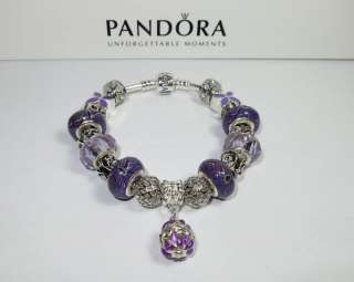 Authentic Pandora Bracelet Purple Passion w/receipt