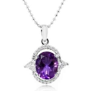 LenYa Special   Richly adorn Birthday Rhodium Plated Silver with Oval