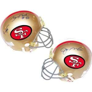 Jerry Rice & Ronnie Lott Autographed Helmet   Joe