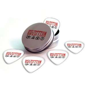 Led Zeppelin Logo Electric Guitar Picks X 5 (2 Sided Print