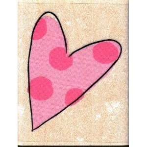 Inkadinkado Wood Mounted Stamp POLKA DOT HEART For