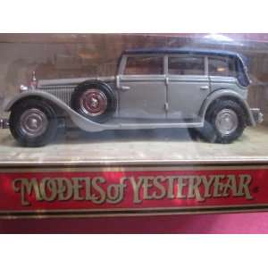 1931 Mercedes Benz Type 770 (Dark Grey) Matchbox Model of Yesteryear Y