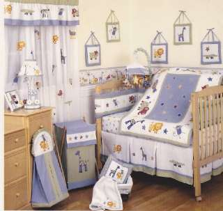 KIDSLINE Kenya Safari Jungle Animals Baby Nursery Crib Bedding Set 12