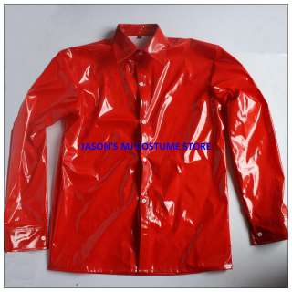 WOW MICHAEL JACKSON RED PVC DANGEROUS SHIRT&TIE