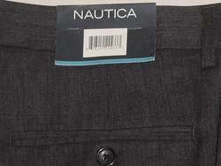 125 NAUTICA GREY WOOL MAST FLAT FRONT DRESS PANT 40 30