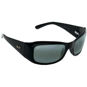 Maui Jim Hibiscus 134 Sunglasses, Black / Grey Lens, Sunglasses