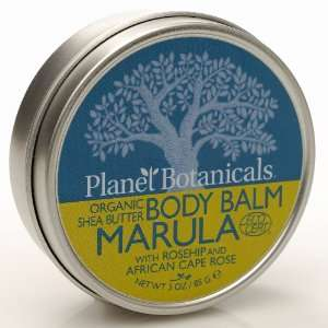 African Shea Butter Body Balm, Marula with Cape Rose, 3.0 Ounce Can