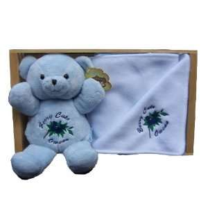 Blue Personalized Gift Set for Boy Bear n Blanket Gift Set Baby