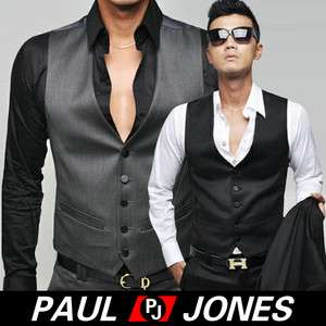 Smart Mens Slim Fit Skinny Suit Dress Casual Buttons Waistcoat Vest