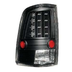Dodge Ram 09 UP LED Taillights Black   (Sold in Pairs
