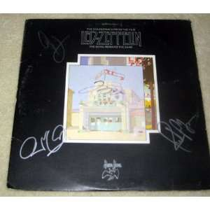 LED ZEPPELIN signed AUTOGRAPHED Song Remains RECORD