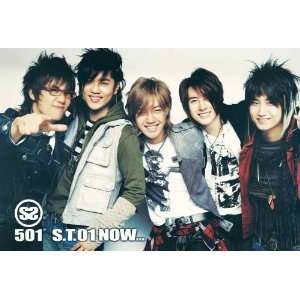 SS501 all smiling horiz POSTER 34 x 23.5 Korean boy band F