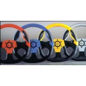 MOMO Commando Series Steering Wheel   Black/Blue