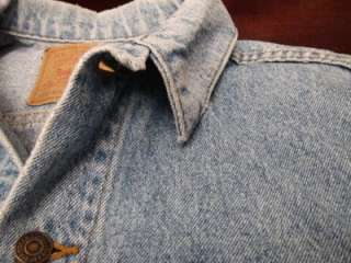 Vtg Levis Red Tab Mens Light Blue Distressed Denim Hipster Mod Jacket