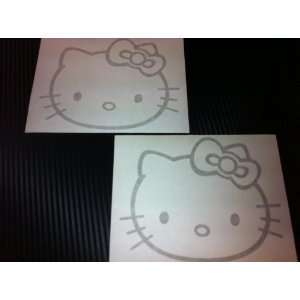 2 X Hello Kitty Racing Car Decal Sticker (New) Gold Size