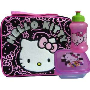 New Hello Kitty Pink Graphics Lunch Box & Container
