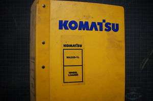 KOMATSU WA320 1 WHEEL LOADER Repair Shop Service Manual