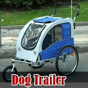 Frugah New Blue Color Puppy Dog Bike Trailer Stroller 2 in